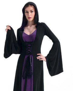 Vestido Medieval com Capuz