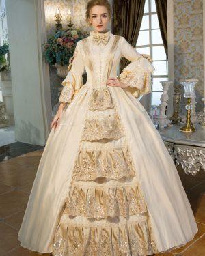 Vestido Medieval Luxo Vitoriano