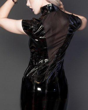 Vestido de Vinil Gola Alta